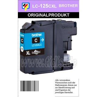 LC125XLC Brother Druckerpatrone Cyan mit 1.200 Seiten Druckleistung nach ISO