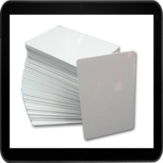50 weiße Dr.Inkjet PVC Karten für Kartendrucker - beidseitig bedruckbar!