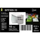 10 oder 50 weiße Dr.Inkjet PVC Karten mit RFID Chip...