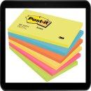 12,7 x 7,6 cm - Post-it® Haftnotizen farbsortiert -...