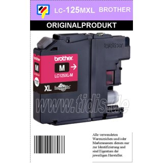 LC125XLM Brother Druckerpatrone Magenta mit 1.200 Seiten Druckleistung nach ISO