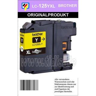 LC125XLY Brother Druckerpatrone Yellow mit 1.200 Seiten Druckleistung nach ISO