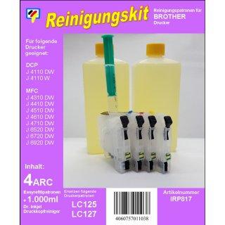 IRP817 - Reinigungspatronen f.LC-123 / LC-125 / LC-127 + 1 Liter Druckkopfreiniger