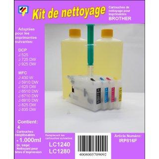 IRP816 - Reinigungspatronen für LC-1220 / LC-1240 / LC-1280 + 1 Liter Druckkopfreiniger