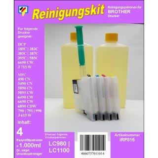 IRP815 - Reinigungspatronen für LC-1100 + 1 Liter Druckkopfreiniger