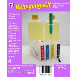 IRP814 - Reinigungspatronen für LC-1000 + 1 Liter Druckkopfreiniger