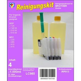 IRP813 - Reinigungspatronen f.LC-985 + 1 Liter Druckkopfreiniger