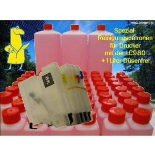 IRP812 - Reinigungspatronen f.LC980 + 1 Liter Druckkopfreiniger