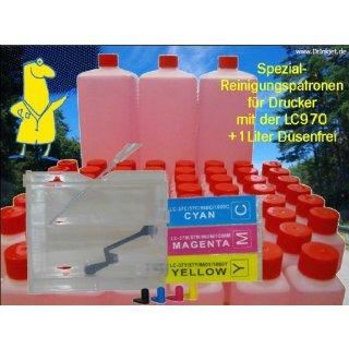 IRP811 - Reinigungspatronen f.LC-970 + 1 Liter Druckkopfreiniger