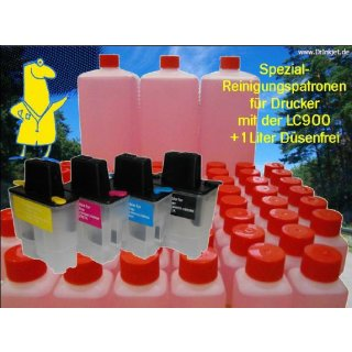 IRP810 - Reinigungspatronen f.LC-900 + 1 Liter Druckkopfreiniger