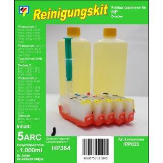 IRP823 - Reinigungspatronen für HP364 + 1Liter Druckkopfreiniger