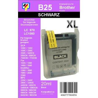 LC-1000BK / LC-970BK - schwarz - TiDis Ersatzdruckerpatrone für ca. 500 Seiten Druckleistung - Kombipatrone