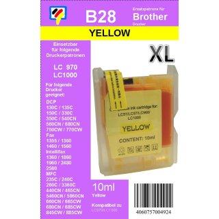 LC-1000Y / LC-970Y - yellow - TiDis Ersatzdruckerpatrone für ca. 400 Seiten Druckleistung - Kombipatrone