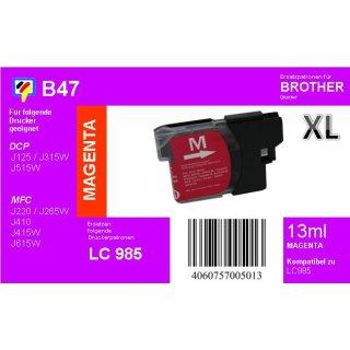 LC-985M - magenta - TiDis Ersatzdruckerpatrone für ca. 400 Seiten Druckleistung