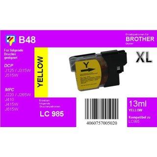 LC-985Y - yellow - TiDis Ersatzdruckerpatrone für ca. 400 Seiten Druckleistung