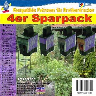LC900 B|C|M|Y Multipack mit 4 TiDis Ersatzdruckerpatronen