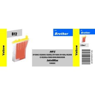 B12 - LC600Y - yellow - TiDis Ersatzpatrone mit 13ml Inhalt