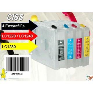 CISS Easyrefillpatronen für LC-1220 / LC-1240 / LC-1280