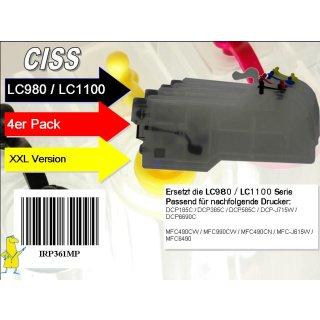 CISS Dr.Inkjet XXL Easyrefillpatronen für LC-1100 / LC-980 - Leerpatronen -