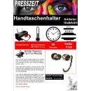 10x Handtaschenhalter mit Alu-Einsatz, Glitzer,...