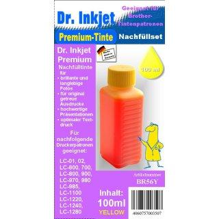 BR56Y - Yellow - Dr.Inkjet Premium Nachfülltinte für Brother Druckerpatronen von LC-1280 bis LC-01