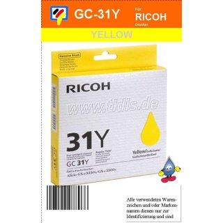 405691 - yellow - Ricoh Druckerpatrone mit 1750 Seiten Druckleistung nach ISO