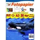 SPP163 - A3 Glossy Papier mit 180g/m2 - weiß und...