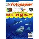 SPP166 - A3 Glossy Papier mit 120g/m2 - weiß und...