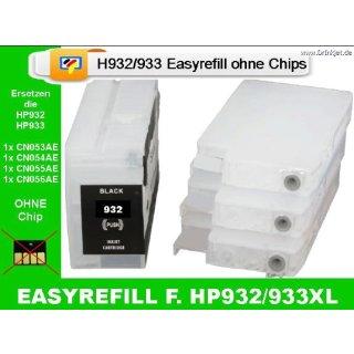 IRP932MP - H932/933 CISS / Easyrefillpatronen Set ohne Chip - es werden die Originalchips benötigt!
