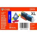 C122 - CLI-551CXL - cyan - TiDis Ersatzdruckerpatrone mit...