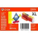 C124 - CLI-551YXL - yellow - TiDis Ersatzdruckerpatrone...