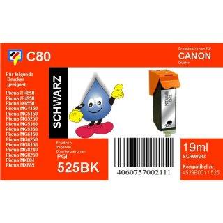 C80 - PGI525BK - schwarz - TiDis Ersatzdruckerpatrone mit 19ml Inhalt