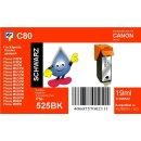 C80 - PGI525BK - schwarz - TiDis Ersatzdruckerpatrone mit...