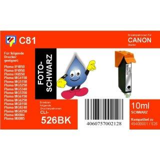 C81 - CLI526B- schwarz - TiDis Ersatzdruckerpatrone mit 10ml Inhalt