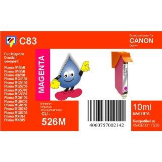 C83 - CLI526M- magenta - TiDis Ersatzdruckerpatrone mit 10ml Inhalt