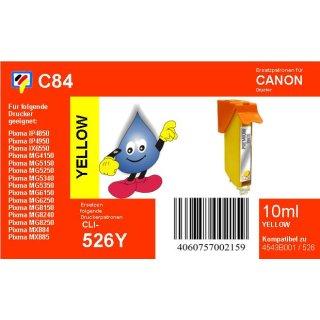 C84 - CLI526Y- yellow - TiDis Ersatzdruckerpatrone mit 10ml Inhalt