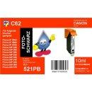 C62  TiDis Ersatzdruckerpatrone für - CLI521BK -...