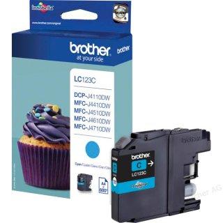 LC123C Brother Original-Druckerpatrone mit 600. Seiten Druckleistung (cyan)