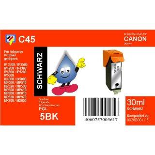 C45 - TiDis Ersatzpatrone für PGI5BK - schwarz - mit 30ml Inhalt