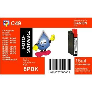 C49 - TiDis Ersatzpatrone für CLI8BK - schwarz - mit 15ml Inhalt