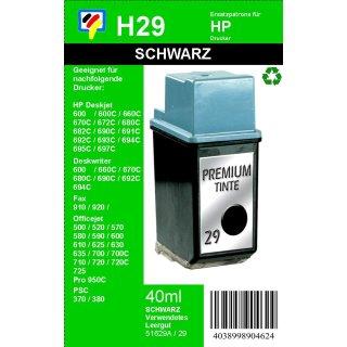 HP29 - TiDis Recyclingpatrone für 51629AE - schwarz -  mit 40ml Inhalt