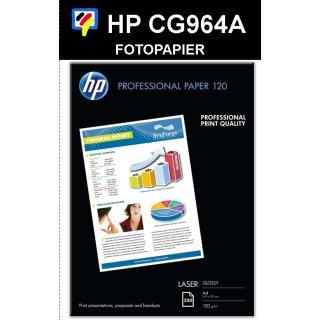 A4 Laser HP Professional Fotopapier - 120g/m2 in 250 Blatt Packung - CG964A