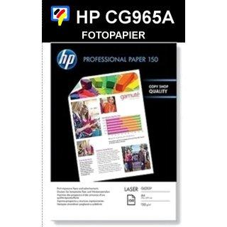 A4 Laser HP Professional Fotopapier HOCHGLANZ 150g/m2 in 150 Blatt Packung - CG965A