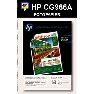 A4 Laser HP Professional Fotopapier HOCHGLANZ 200g/m2 in 100 Blatt Packung - CG966A