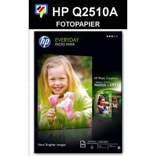 A4 Inkjet Standard Fotopapier. Papiergewicht: 170g / m². Oberfläche: seidenmatt. Packung: 100 Blatt. HP Q2510A