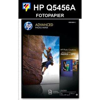 A4 Inkjet Fotopapier HP HOCHGLÄNZEND 250GR. (25BL.) - Q5456A