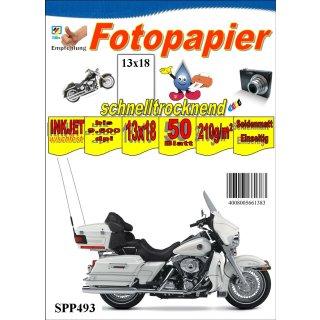 """SPP493 - 13x18 Seidenmattes Fotopapier 210g -50 Blatt Packung - >> """"Für alle Tintenstrahldrucker geeignet"""" <<"""