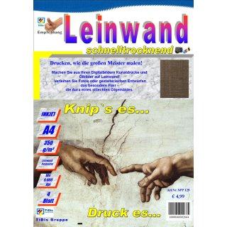 """SPP139 - Inkjet Leinwand """"Picasso würde staunen"""" 5 Blatt Packung >> """"Für alle Tintenstrahldrucker geeignet"""" <<"""