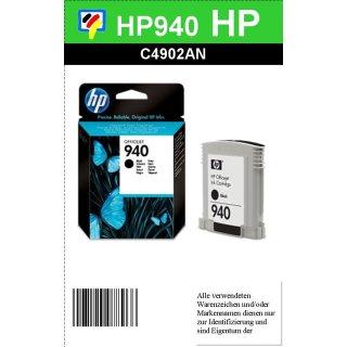 HP940BK - Original C4902AE - Black - mit 22ml Inhalt mit ca. 1.000 Seiten Druckleistung nach Iso