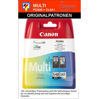 PG540B+CL541C -schwarz & color- CANON Original Multipack -5225B006-